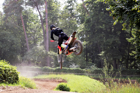 Motocross rider who is good at what he does Banco de Imagens - 84492638