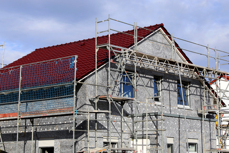 Residential home with professional thermal plant Standard-Bild