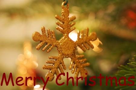 Christmas star tree and christmas greetings in english Фото со стока