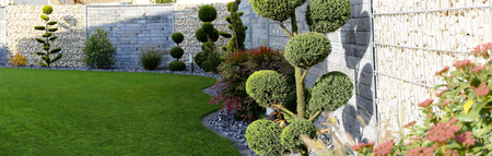Neat and tidy garden Foto de archivo
