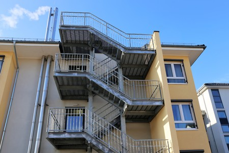 Galvanized emergency staircase