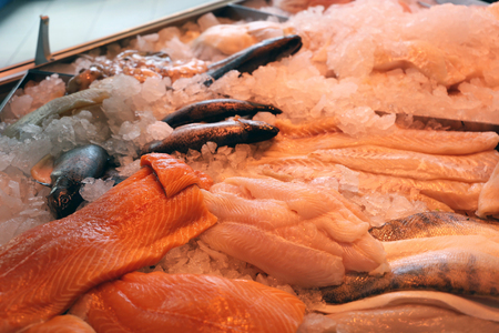 Fish counter with salmon
