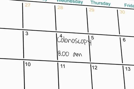 Schedule with handwritten memo