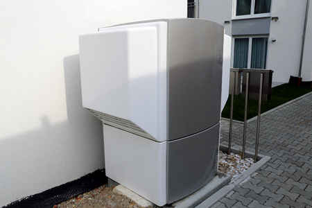 Heat pump on a residential home 写真素材