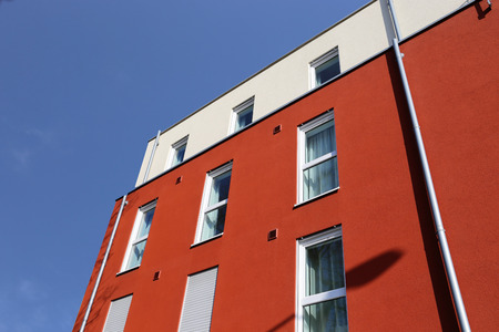 Residential home with modern facade painting