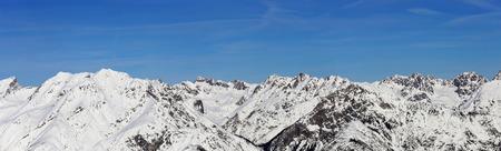 Alpine panorama winter