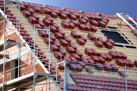 Roof is prepared for tiling