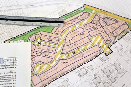 Urban Development plan, close-up Standard-Bild