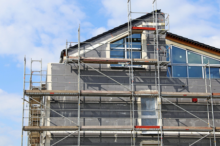 Residential home with professional thermal insulation  facade insolution