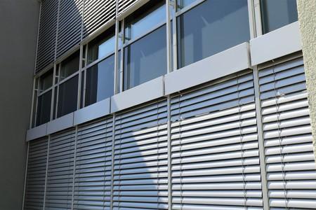 Window with modern external blind