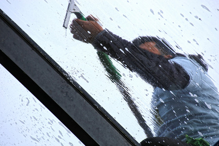 Professional glass cleaning