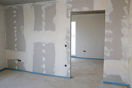 Dry construction, interior shot Stock Photo