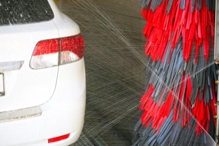 At the car wash Stockfoto