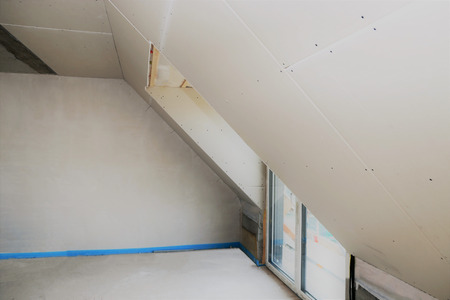 Construction site of an attic conversion