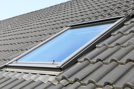 Skylight on a residential home, exterior shot