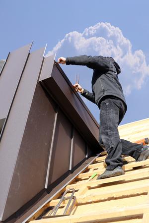 Constructing a dormer Stock fotó