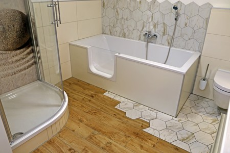 New and modern bathroom