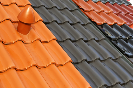 New roof tiles in different colors