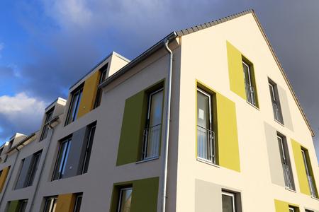 Apartment building with modern painting 版權商用圖片