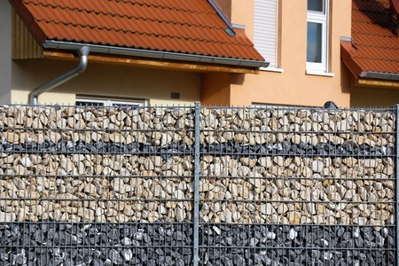 Gabion fence wall