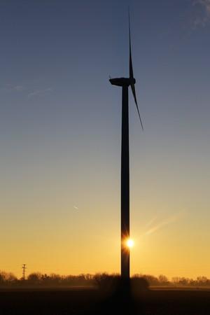 Wind turbines, wind farm Stock Photo
