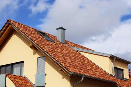 Tiled roof in mediterranean style Stock fotó