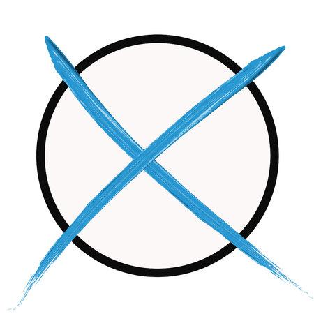 Circle with blue cross Standard-Bild - 119229073