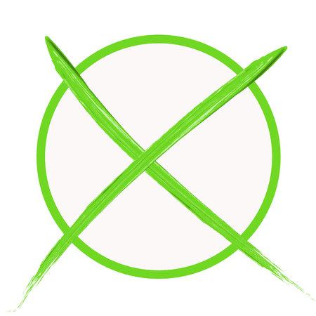 Circle with green cross Standard-Bild - 119180227
