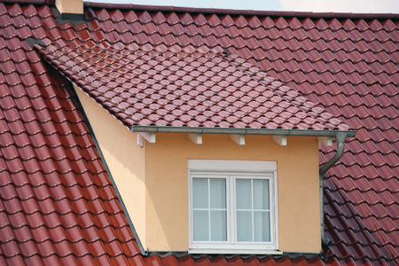 Tiled roof with dormers