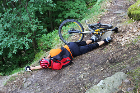Mountain biker injured after serious accident