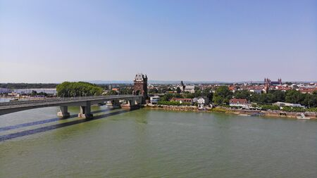 Aerial view of Worms, Rhineland-Palatinate, Germany Stock fotó