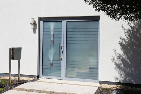 Modern new full glazing front door