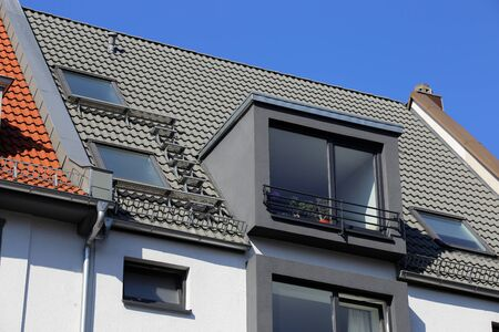 New tiled roof with dormers 版權商用圖片