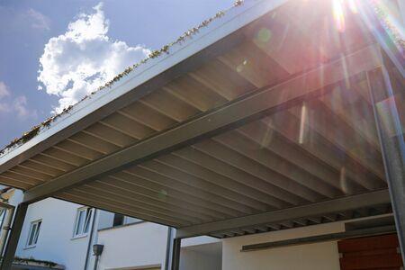 High quality aluminum carport Stock Photo