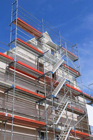 Scaffold on a building facade