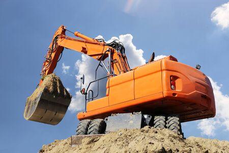 Excavation work on a building site Reklamní fotografie