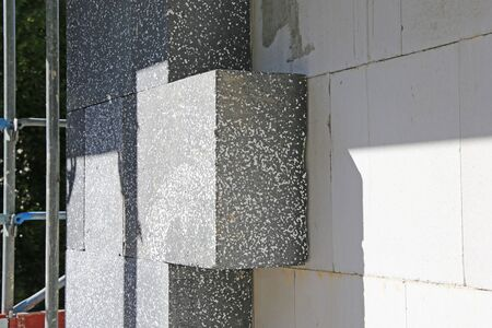 Building with professional heat insulation, close up