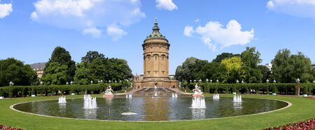 Mannheim (Baden-Wurttemberg, Germany) with his popular landmark, the water tower