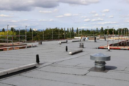 Professional flat roof sealing of a large roof