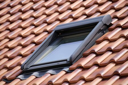 New tiled roof with skylight