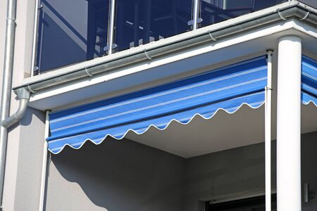 New awning on a balcony