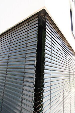 Window with external venetian blind, exterior shot