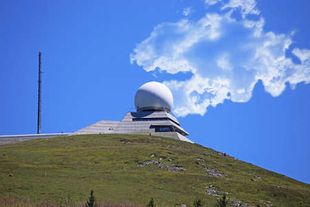 Radar station on the summit of the Grand Ballon, at 1,424 meters the highest peak of the Vosges (Alsace, France) Editorial