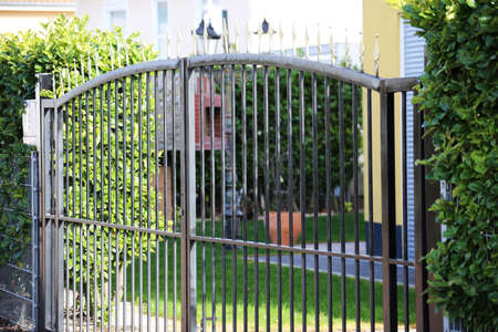 High quality garden fence made with metal bars