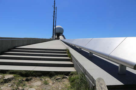 Radar station on the summit of the Grand Ballon, at 1,424 meters the highest peak of the Vosges (Alsace, France) Foto de archivo