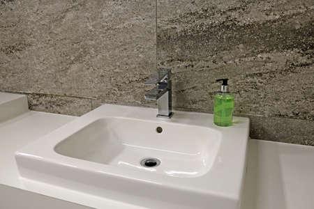 Top wash basin in a modern bathroom