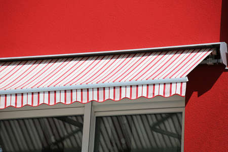 New and high-quality garden or balcony awning 스톡 콘텐츠