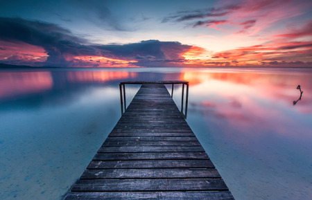 honey moon: A romantic color of sunset at Borneo Malaysia