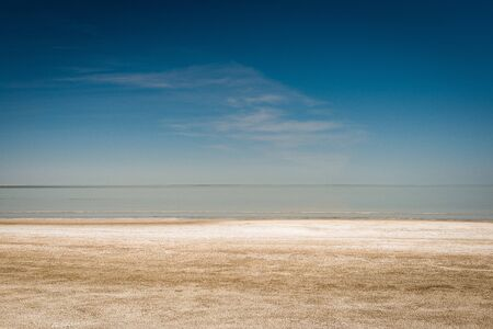 This abstract photograph of the Etosha Pan was photographed at midday in the Etosha National Park in Namibia. Standard-Bild