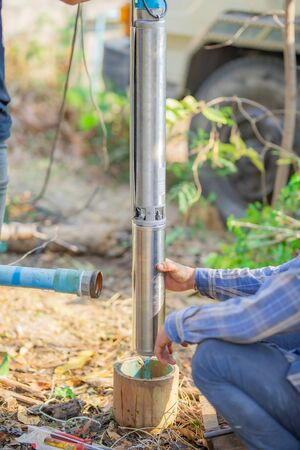 Submersible pumps drainage system dewater construction sites, solutions to groundwater problems using deep wells.
